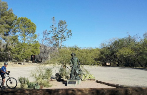 "Statue of ""The Cowboy"" at La Posta Quemada / Day Ranch."