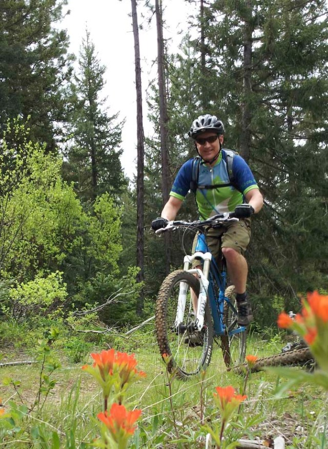 Bob heading the trail crew.