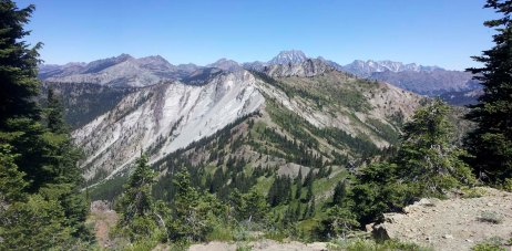 Soon, I'll be on the Jolly Creek trail which goes just to the right of this ridgeline.