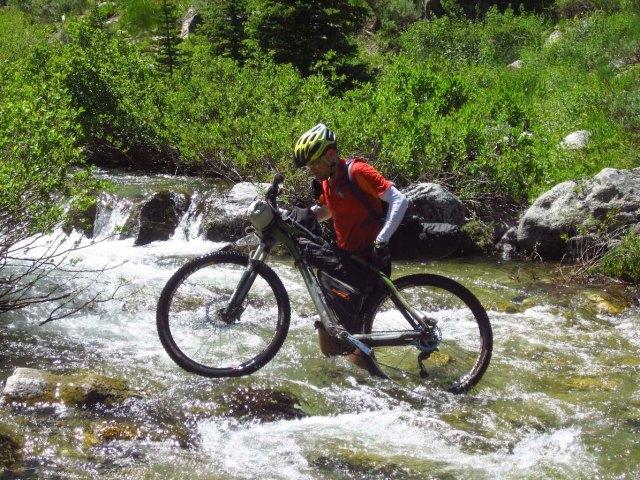 Crossing the South Fork-Ross Fork creek.